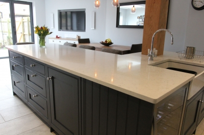 Kitchen extension marble worktops