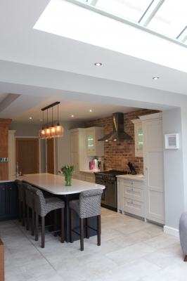 Kitchen extension open plan