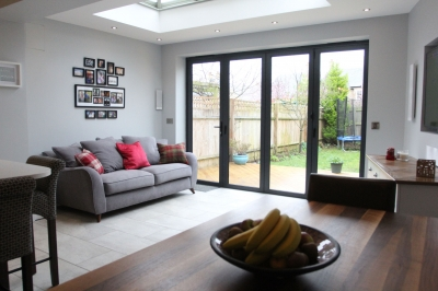 Kitchen extension lounge/ TV area