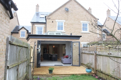 Kitchen extension after