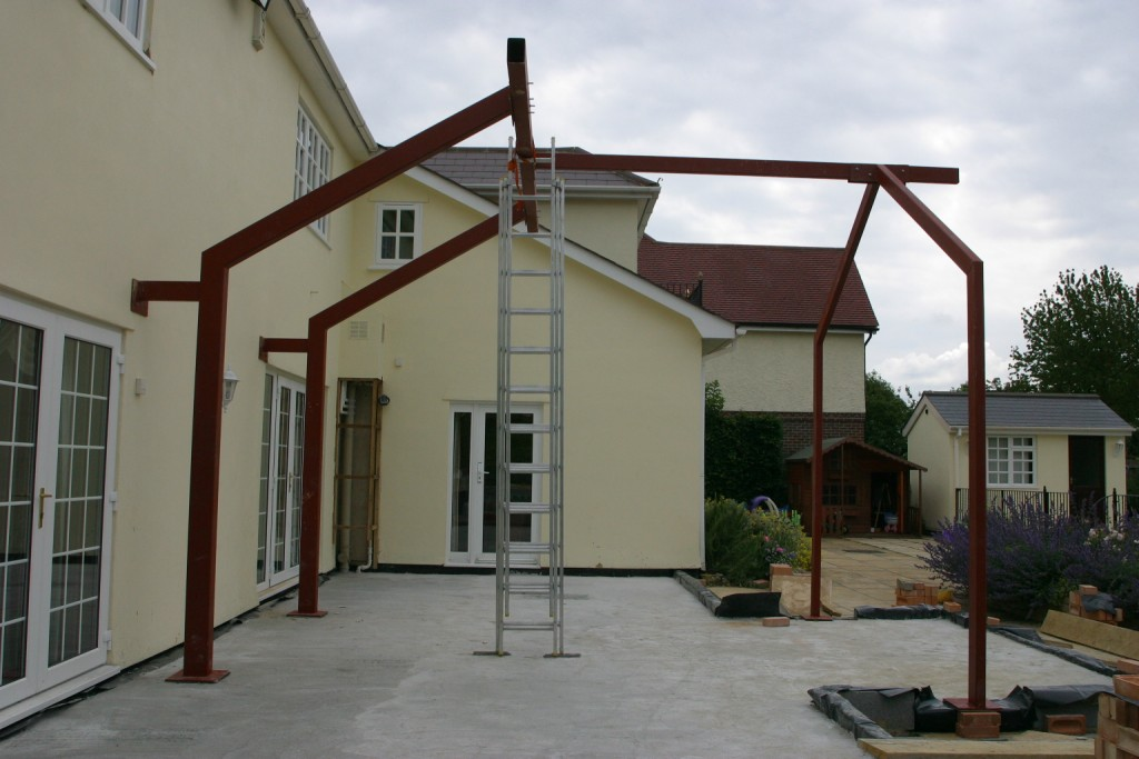conservatory steelwork 1